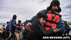پناهجویان افغان در مرز یونان و ترکیه