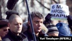 Оппозиционеры Сергей Удальцов и Борис Немцов