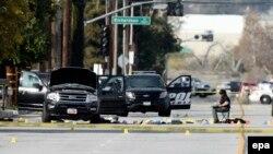 Спецоперация полиции в округе Сан-Бернардино в Южной Калифорнии. 3 декабря 2015 года.