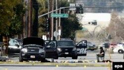 Машина, использовавшаяся подозреваемыми при организации стрельбы в Калифорнии.