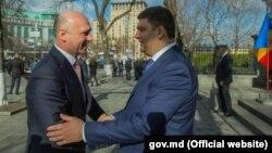 Pavel Filip și Volodimir Groisman, la Kiev