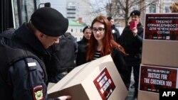 Акция против преследования геев в Чечне
