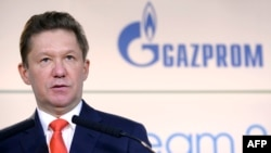 Russian energy group Gazprom Chief Executive Aleksei Miller