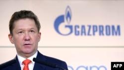 Aleksei Miller la ceremonia de semnare a acordului de construcție a Nord Stream 2