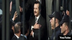"Scene from film ""Reis"" about R. T. Erdogan."