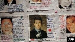 Фотографии погибших в терактах 11 сентября 2001 года, собранные родственниками в мемориальном комплексе в Нью-Йорке