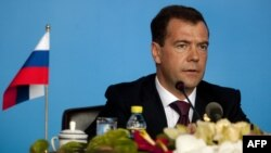 Russian President Dmitry Medvedev at a BRICS summit meeting in China last year.