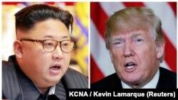Ким Чен Ын и Дональд Трамп (коллаж)