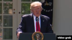 Președintele american Donald Trump anunță ieșirea Statelor Unite din Acordul de la Paris privind schimbările climaterice, Washington, 1 iunie 2017
