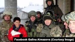 Галина Алмазова в зоні бойових дій на Донбасі