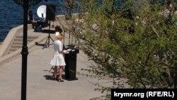 Журналисты перед брифингом Марии Захаровой в Севастополе