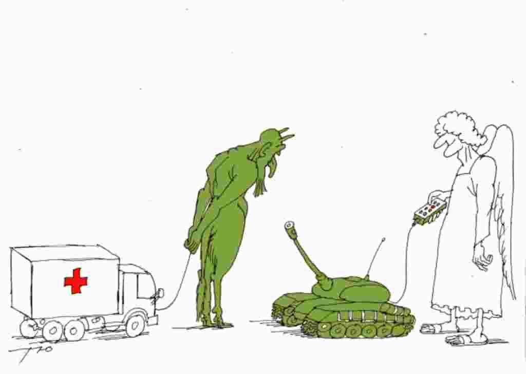 Карикатура, що посіла третє місце у конкурсі «Диявольська бензоколонка» Сергія Тюніна (Москва)
