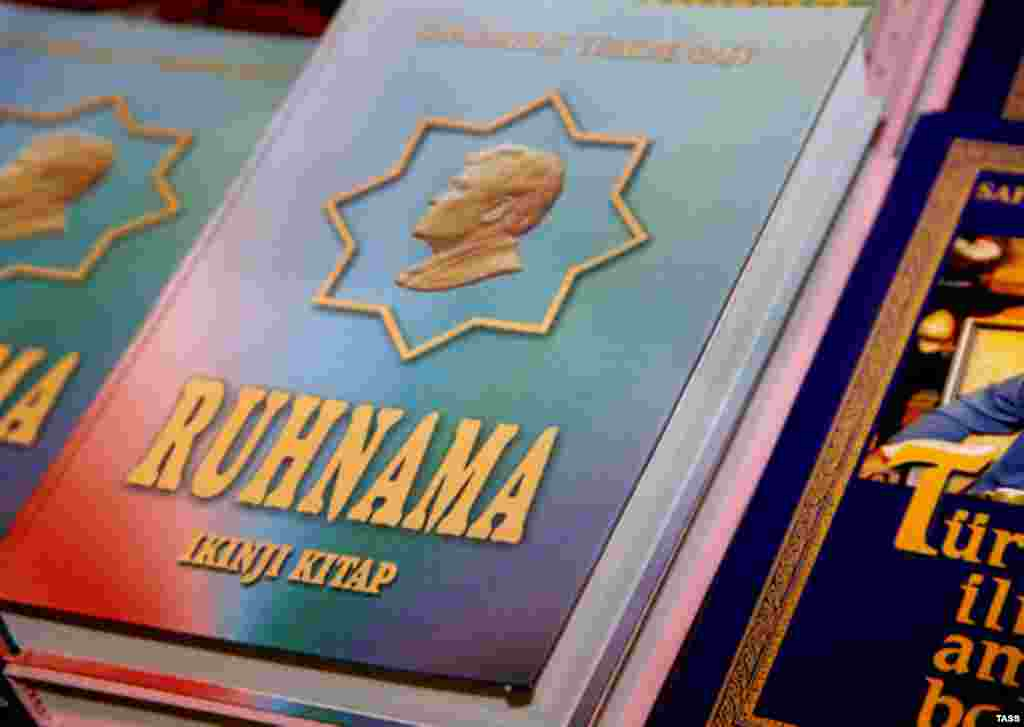 "The ""Ruhnama,"" the spiritual tome by President Saparmurat Niyazov (TASS) - Niyazov's ""Ruhnama"" (""Book Of The Spirit"") became a staple of the Turkmen educational system and of Turkmen cultural life generally. Officials were expected to know its teachings and to be guided by them. In October, Niyazov published a new volume of poetry, which was described by the state media as ""a source of inexhaustible inspiration and creative energy for Turkmen citizens."""