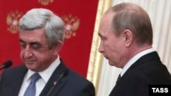 Президенты Армении и России, Серж Саргсян и Владимир Путин (архивная фотография)