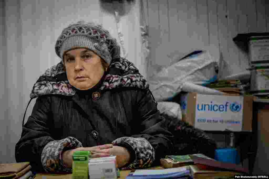Svetlana Marchenko works as a nurse in the village of Nikishine, near Debaltseve.