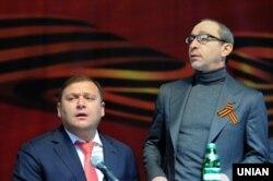 Колишній голова Харківської області Михайло Добкін (зліва) і мер Харкова Геннадій Кернес. 22 лютого 2014 року