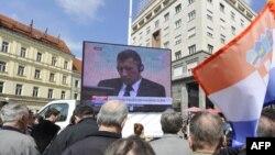 Direktan prenos presude Gotovini se pratio na trgu u Zagrebu