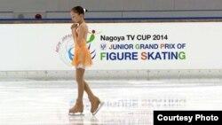 Фигуристка из Казахстана Элизабет Турсынбаева на состязаниях в Японии.