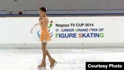 Элизабет Турсунбаева Жапониядағы әлемдік Гран-При жарысында. Сурет спортшының жеке мұрағатынан алынды.