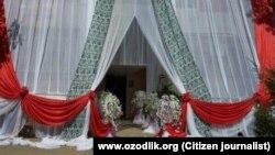 Оформление свадьбы в Узбекистане, архивное фото