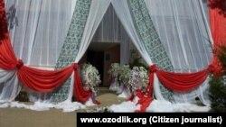 Оформление свадьбы в Узбекистане, архивное фото.