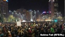 Proteste antiguvernamentale la Bucureşti
