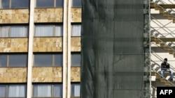 Hoteli Grand gjatë restaurimit