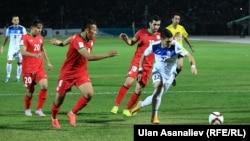 Кыргызстан менен Тажикстандын футбол боюнча улуттук курама командаларынын беттеши. 8-октябрь, 2015-ж.