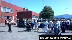 Акция по случаю 22-й годовщины создания концлагеря Кератерм в окрестностях Приедора, 24 июля 2014