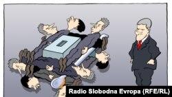 Karikatura Predraga Koraksića Coraxa