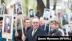 """Николай Булакин на акции """"Бессмертный полк"""""""