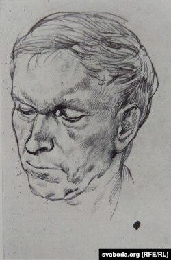 Юры Ракша. Партрэт Васіля Быкава. 1976 г.