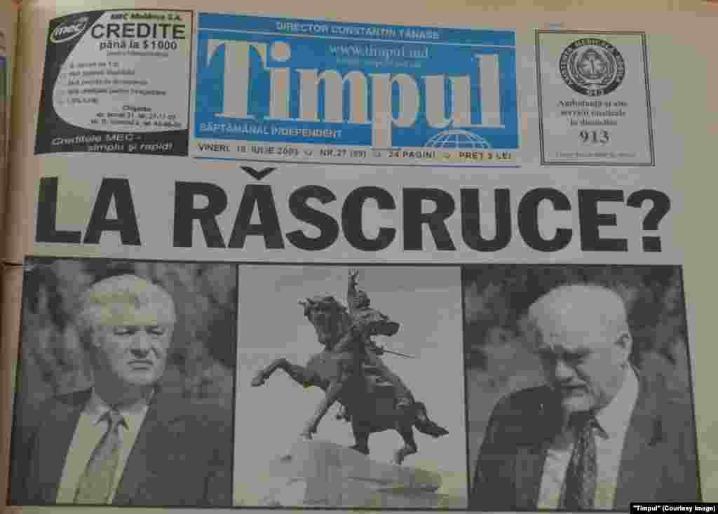 """""""Timpul"""", 18 iulie 2003"""