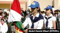 مراسم رفع العلم بمناسبة بدء العام الدراسي في كردستان