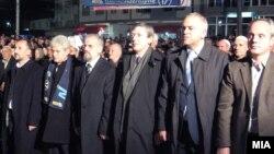 Предизборен митинг на ДУИ во Гостивар.