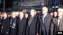 Ilustrim me foto nga fushata elektorale në Maqedoni...