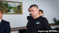 Олег Кизименко в зале Херсонского городского суда, 12 сентября 2018 года