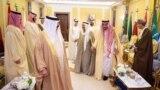 Перс булуңунун Кызматташтык Кеңешине кирген араб өлкөлөрүнүн Эр-Рияддагы саммитке чогулган лидерлери. 9-декабрь, 2018-жыл.