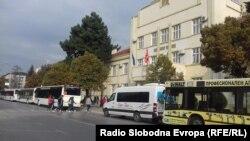 Автобуси за превоз на ученици во Битола.
