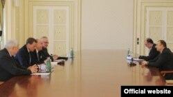 Ильхам Алиев встречается с сопредседателями, Баку, 14 апреля 2011