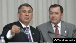 Рөстәм Миңнеханов (с) һәм Әхмәт Мазһаров
