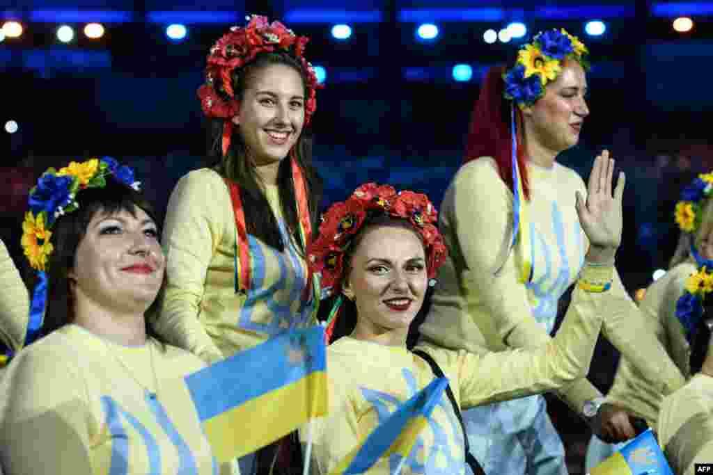 Члени української паралімпійської збірної під час урочистої церемонії відкриття Паралімпіади. Ріо-де-Жанейро, 7 вересня 2016 року