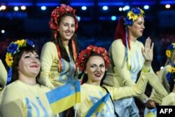 Члени української паралімпійської збірної під час урочистої церемонії відкриття Паралімпійських ігор, Ріо-де-Жанейро, 7 вересня 2016 року