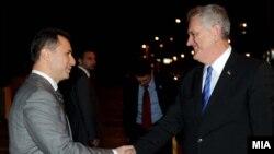 Средба на премиерот на Македонија Никола Груевски со српскиот претседател Томислав Николиќ Скопје, Македонија, 2012.
