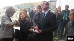 Министерката за култура Елизабета Канческа-Милевска посети два објекта кои се дел од проектот за реставрација на стара градска архитектура – крушевска куќа од 19 век и Музејот на Илинденското востание