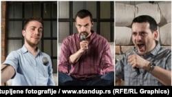 Stend-ap komičari Nenad Stefanovski, Raša Nestorović i Miloš Radojković
