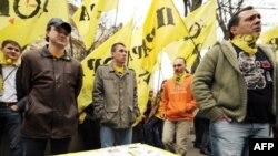 Ukrainada NATO tarafdarları Fransiä ilçelege qarşında cıyın ütkärä
