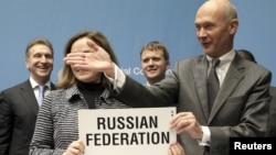 Ресейді ДСҰ-ға қабылдау рәсімі. Женева, 16 желтоқсан 2011 жыл.