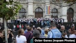 Magistrații au protestat în repetate rânduri împotriva diverselor modificări legislative făcute de ministrul justiției, Tudorel Toader.