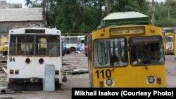 Брошенные троллейбусы в Архангельске